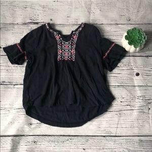 🍭*6/$30* Abercrombie kids boho blouse 11 / 12
